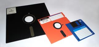Old days floppy disks