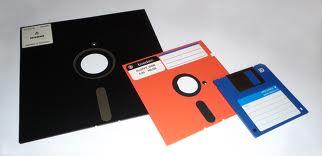 Old days floppy disks