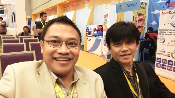 Saya dan mentor saya, Pak Lucas Miraldi - jagoan digital dari Bandung