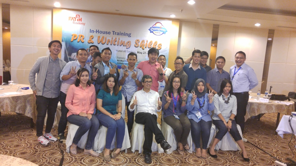 PR & Writing Skill Training & Worshop, Mei 2016